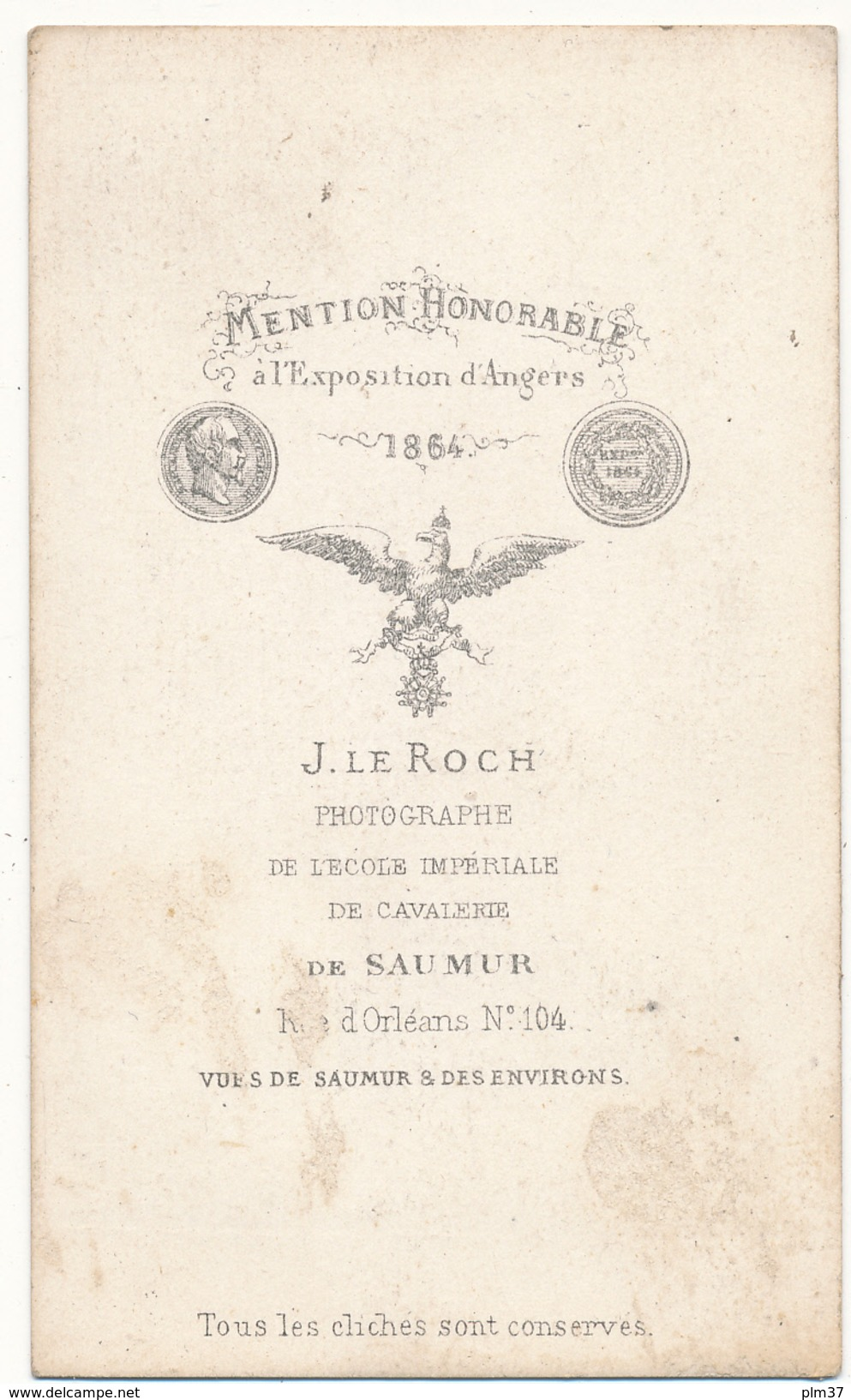 CDV - FONTEVRAULT, 49 - J. Le Roch, SAUMUR - 2 Scans - Fotos