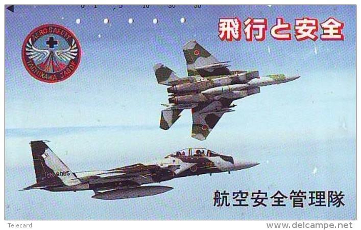 TELECARTE JAPON * MILITAIRY AVION  (601)  Flugzeuge * Airplane * Aeroplano * PHONECARD JAPAN * ARMEE * LEGER VLIEGTUIG - Army
