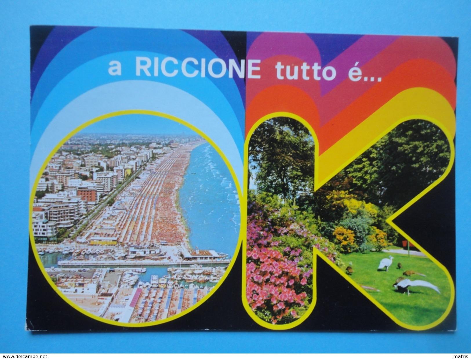 Riccione - Rimini - Tutto Ok - Vedutine - Panorama Spiaggia E Alberghi, Parco - Rimini