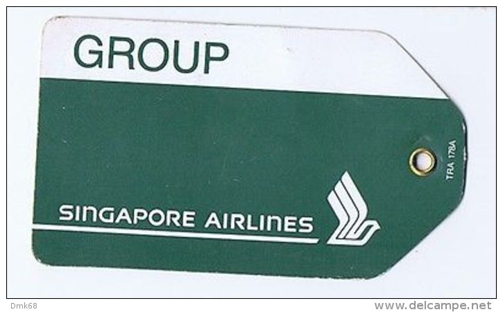 SINGAPORE AIRLINE - VINTAGE MENU + TICKETS - Transportation