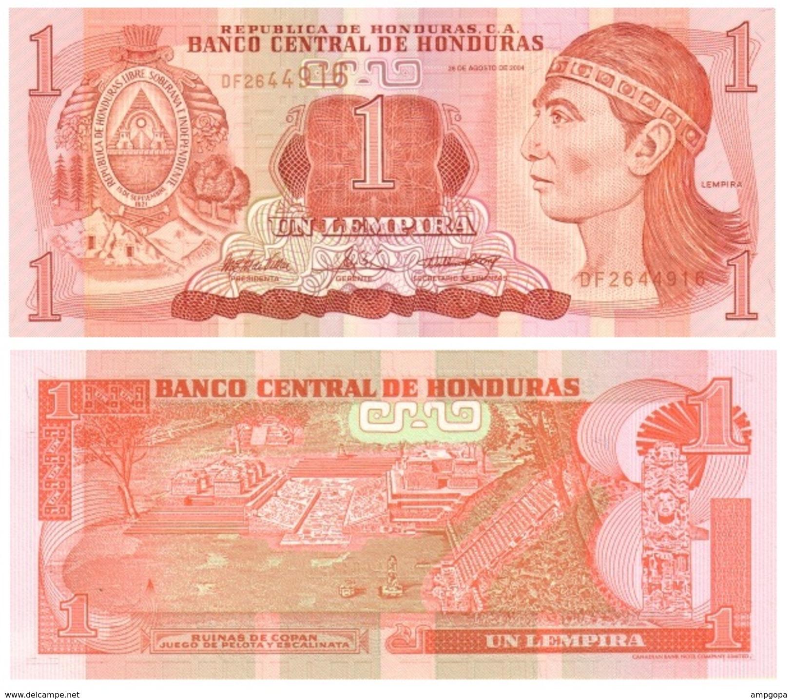 Honduras 1 Lempira 2004 Pick 84-d UNC - Honduras