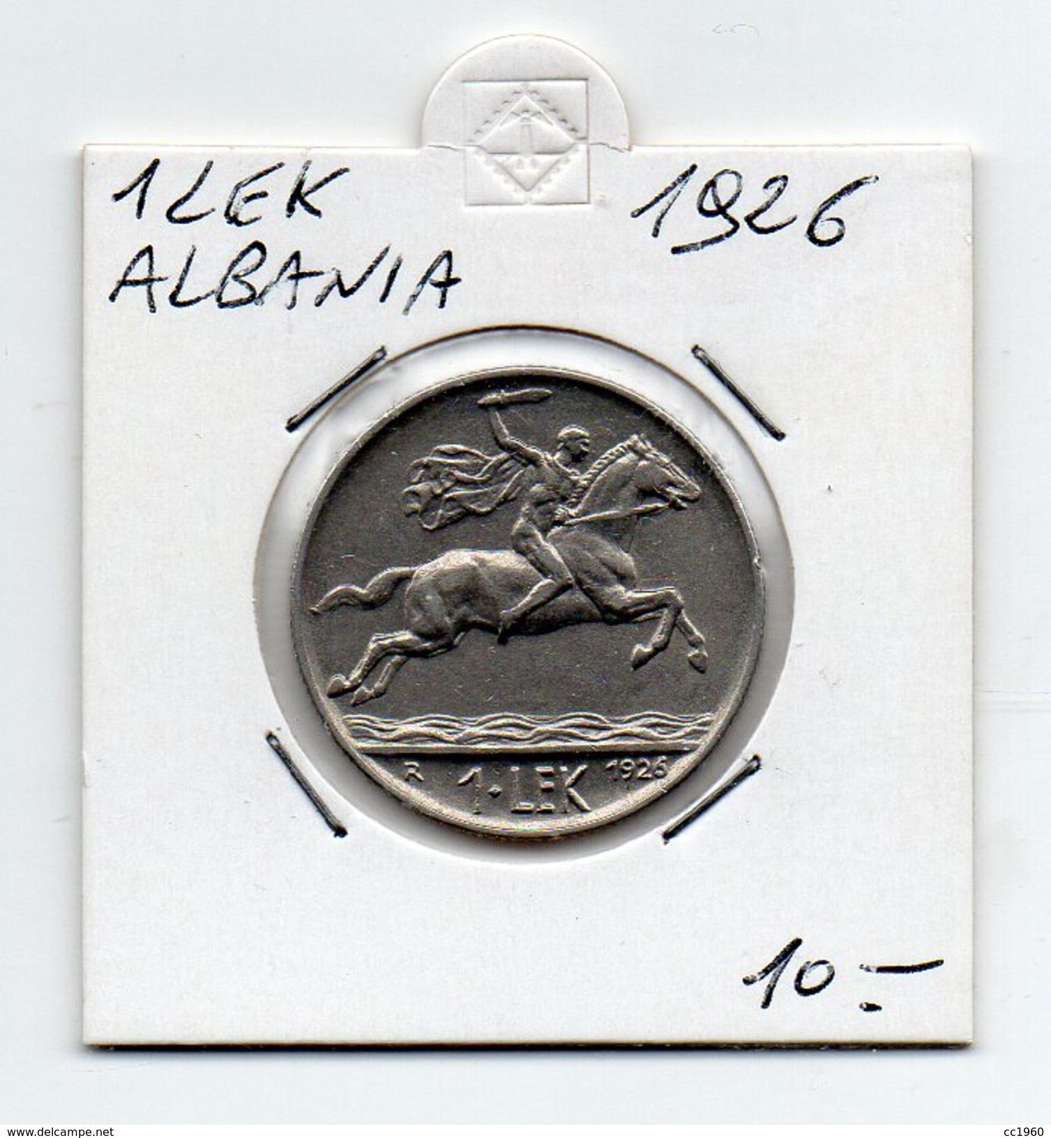 Albania - 1926 - 1 Lek - (FDC4533) - Albanie