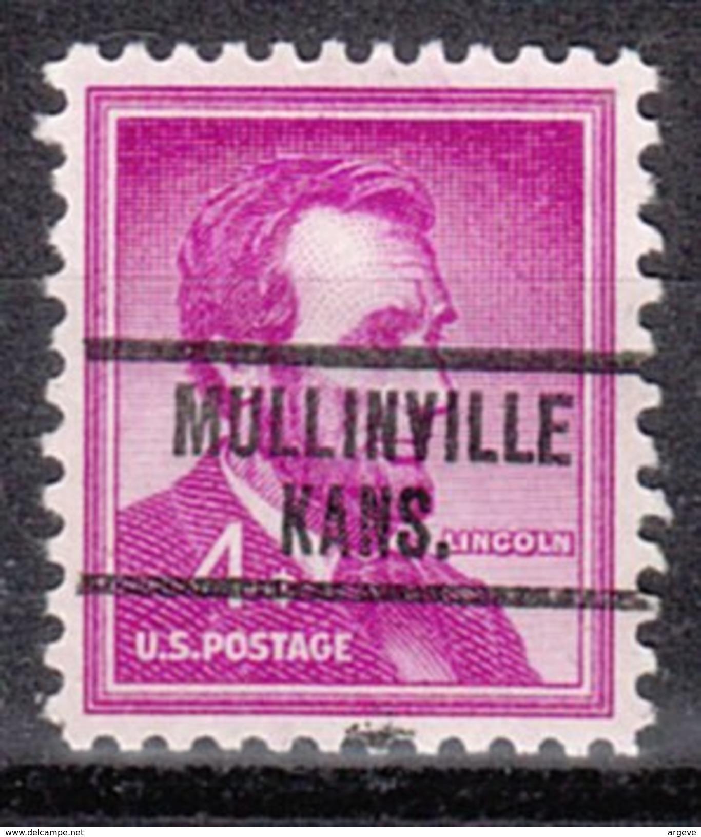 USA Precancel Vorausentwertung Preos Locals Kansas, Mullinville 734 - Etats-Unis