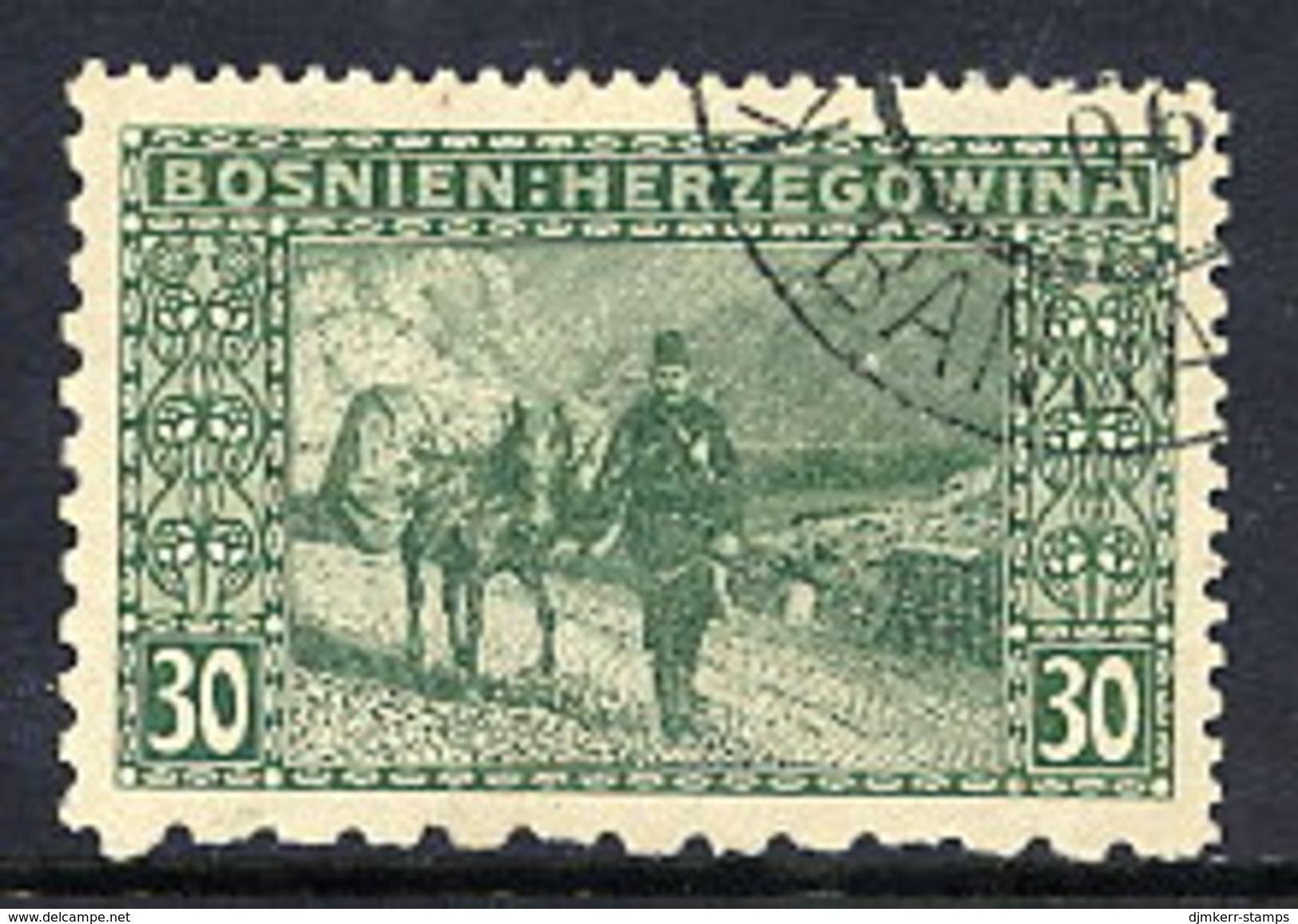 BOSNIA & HERZEGOVINA 1906 30 H. Perforated 12½ : 12½ : 6½ : 9¼ Used.. Michel 37G, SG 194E Cat. £50 - Bosnia And Herzegovina