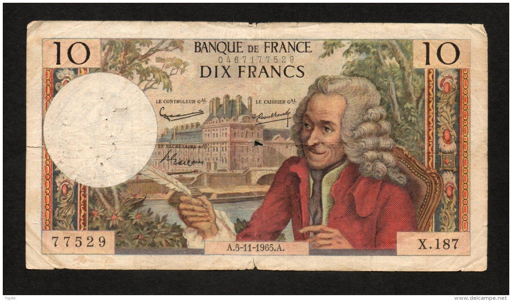 Banconota FRANCIA 10 FR. Circolata 5/11/1965 - Non Classés