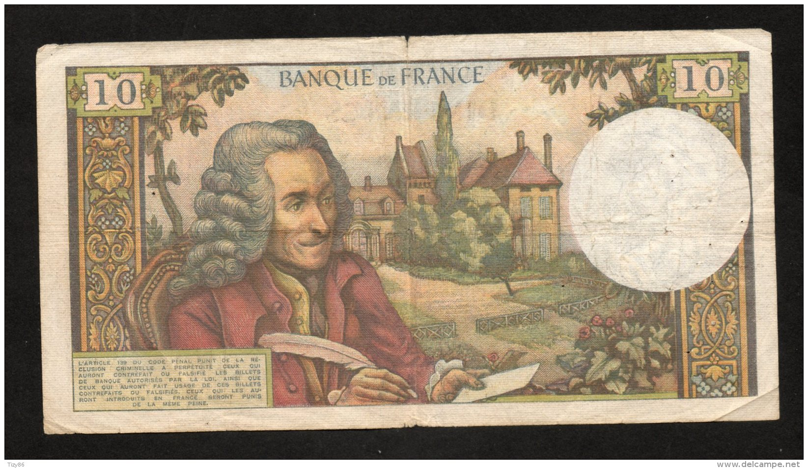 Banconota FRANCIA 10 FR. Circolata 7/11/1963 (BB) - Non Classificati