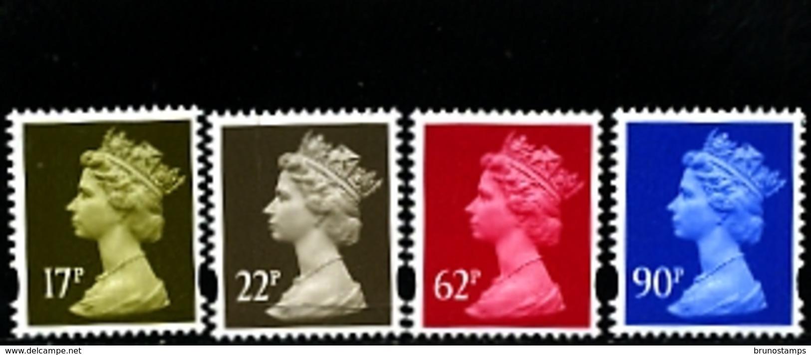 GREAT BRITAIN - 2009  MACHIN  17p+22p+62p+90p   SET  MINT NH - 1952-.... (Elisabetta II)
