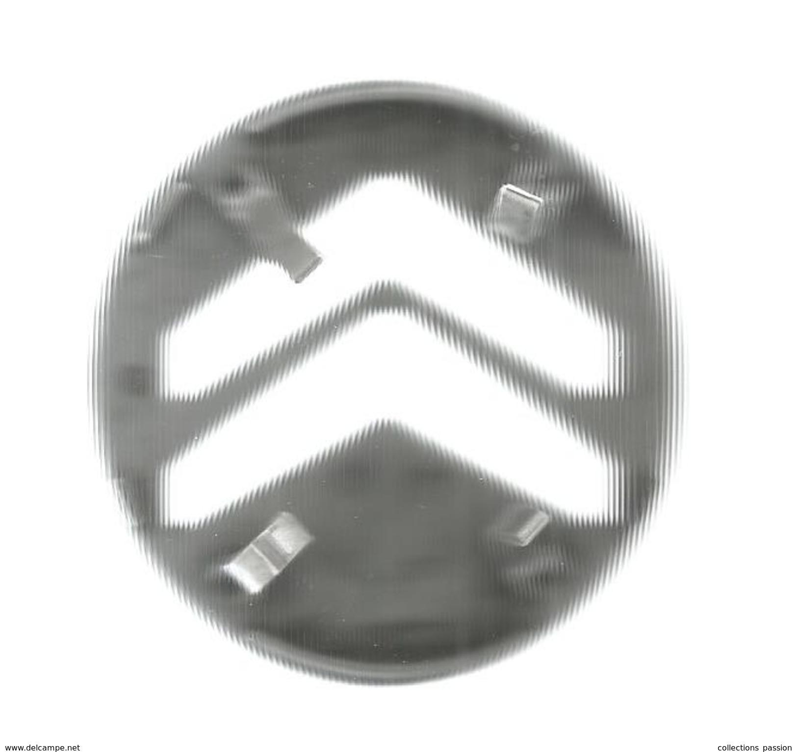 G-I-E, Automobile, LOGO CITROEN , CRVD011 , Diamétre 6.5 ,plastique , 2 Scans , Frais Fr : 2.95€ - Voitures