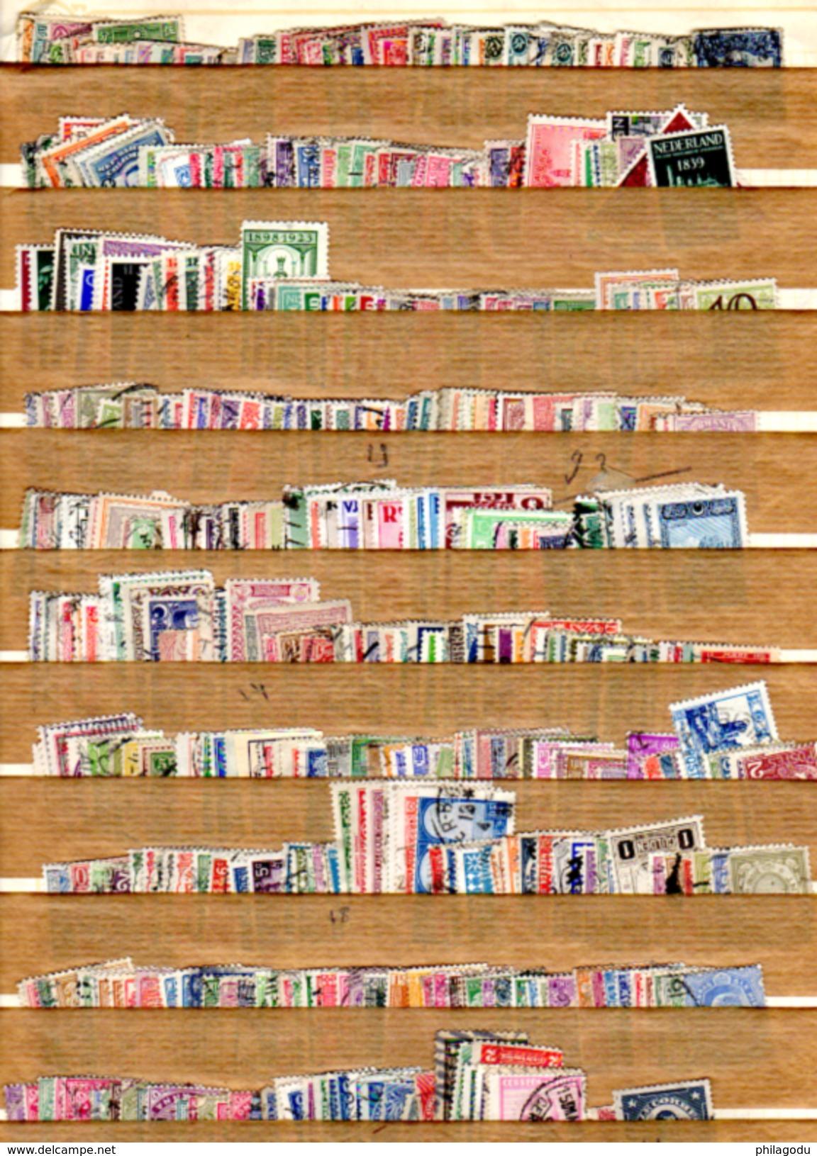 54666  ± 410 Timbres De Pays Divers Ø  Tous Différents Avant 1941   Nederland Romania Turquie Etc.... - Lots & Kiloware (mixtures) - Max. 999 Stamps
