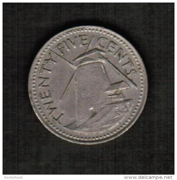BARBADOS   25 CENTS 1973 (KM #13) - Barbados