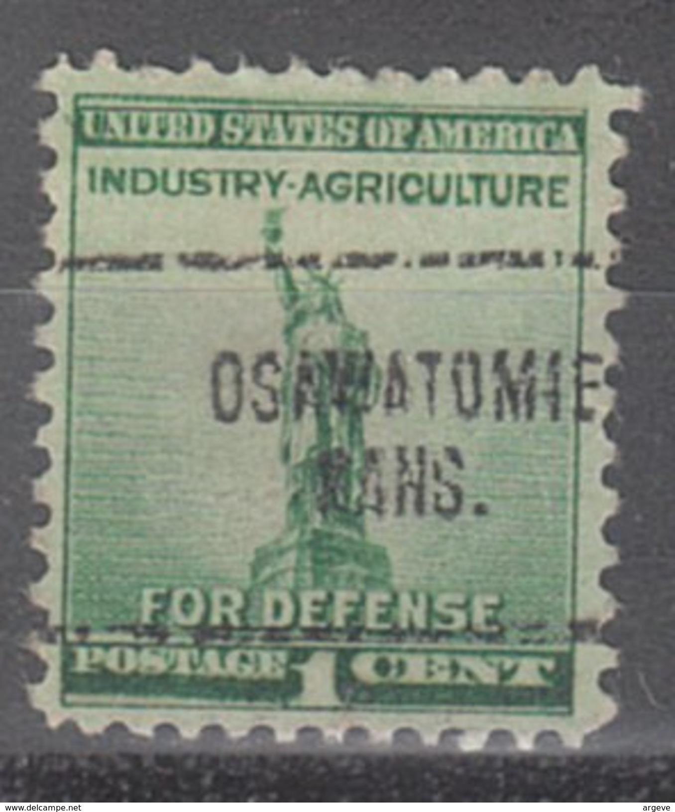USA Precancel Vorausentwertung Preos Locals Kansas, Osawatomie 704 - Vereinigte Staaten