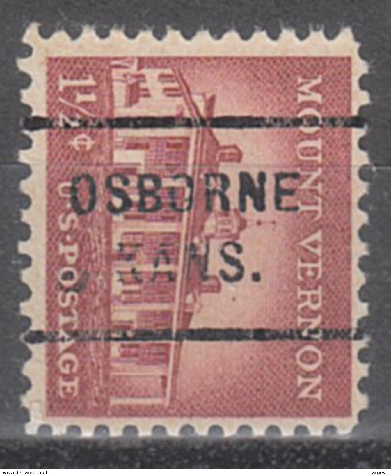 USA Precancel Vorausentwertung Preos Locals Kansas, Osborne 712 - Vereinigte Staaten