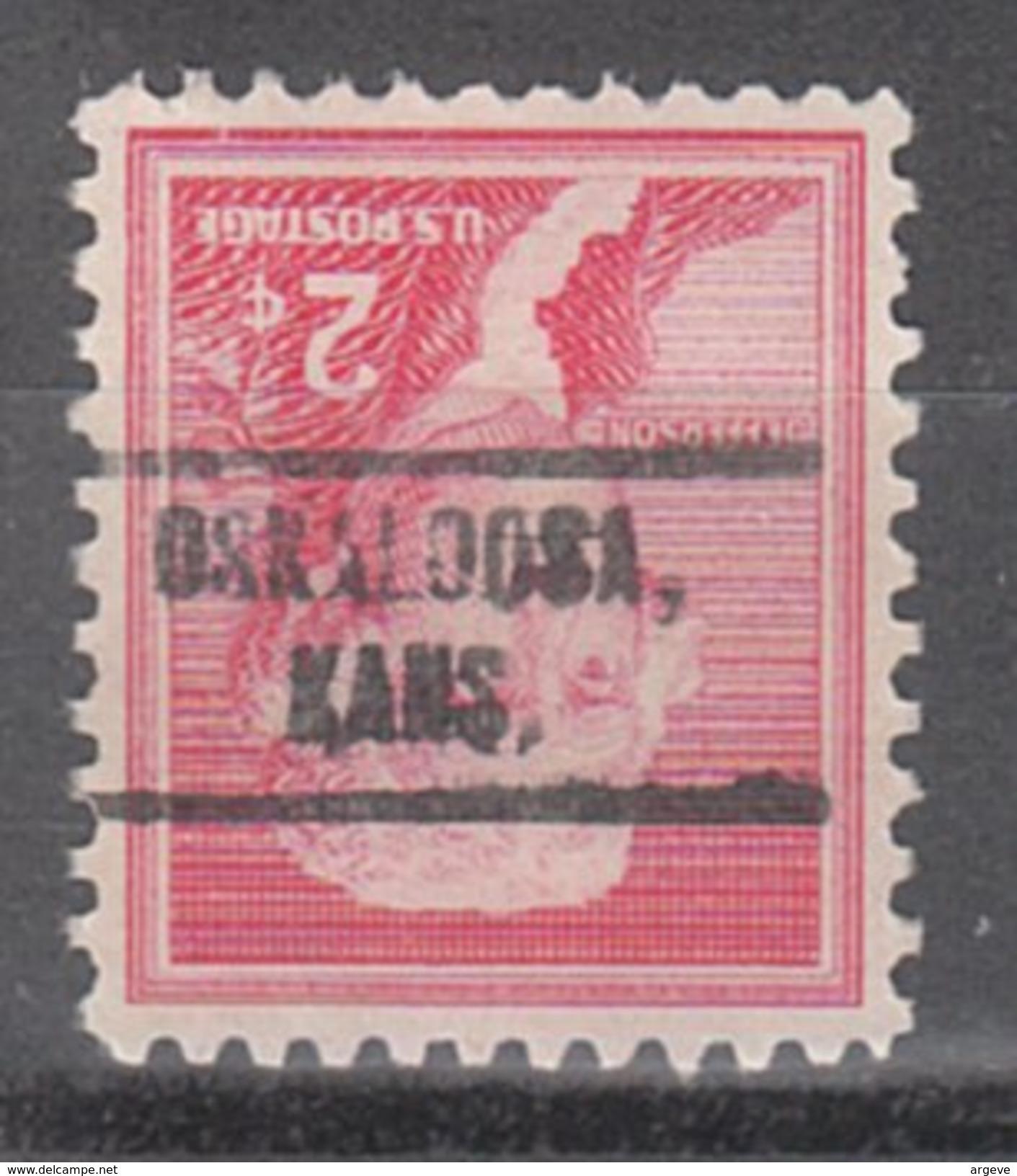 USA Precancel Vorausentwertung Preos Locals Kansas, Oskaloosa 735 - Vereinigte Staaten