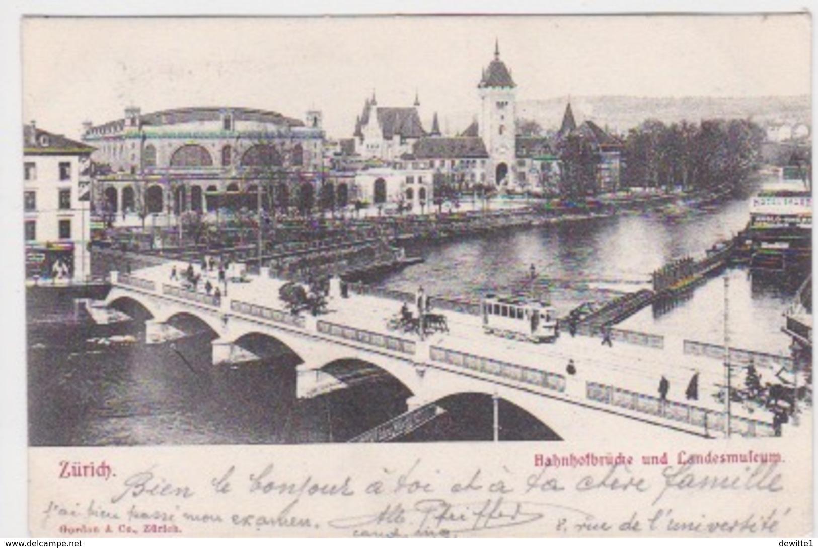ZURICH. Bahnhofbrücke Und Landesmuseum - ZH Zurich