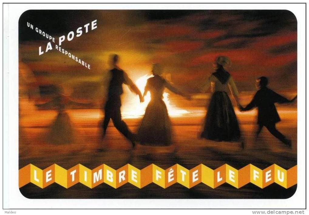 Fête Du Timbre 2012 - Entier Postal - Le Feu Danse Autour Du Feu - Entiers Postaux