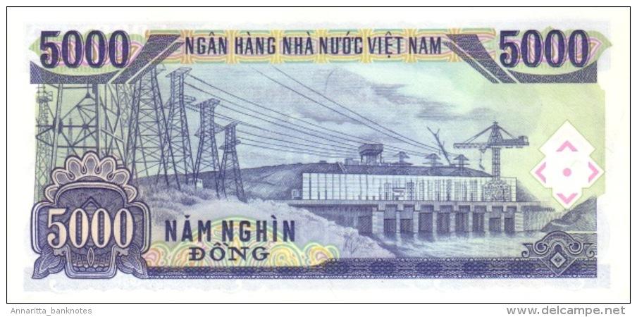 VIETNAM 5000 DONG 1991 (1993) P-108 UNC [VN336a] - Vietnam