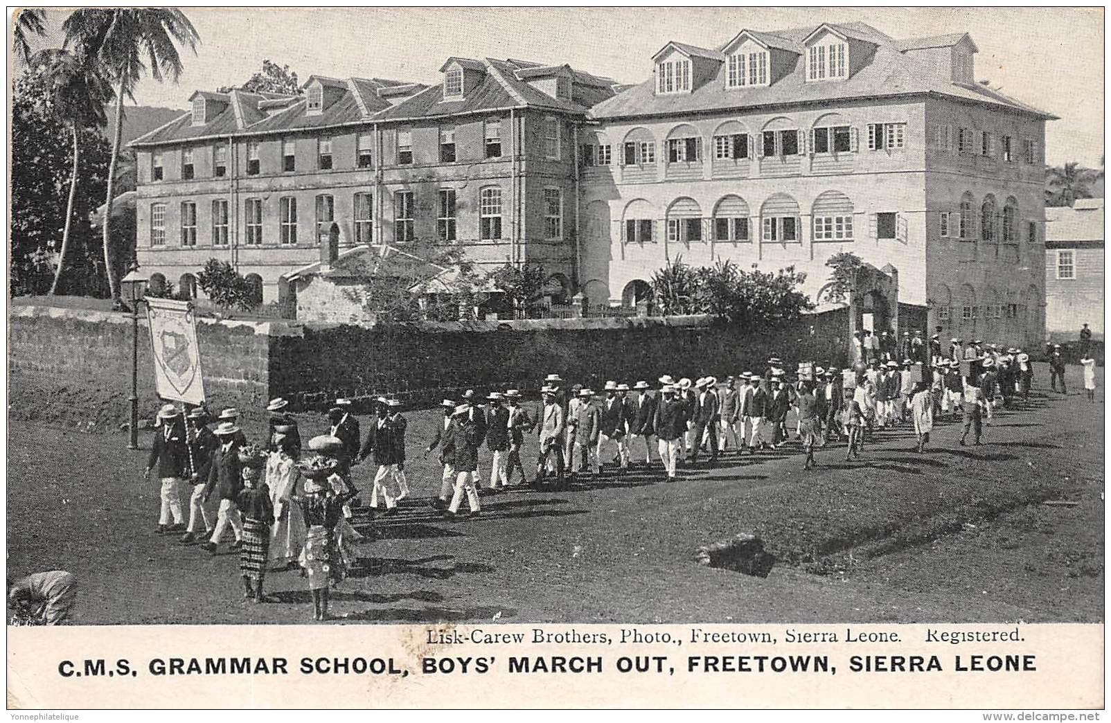 SIERRA LEONE / Freetown - Grammar School - Boy's March Out - Sierra Leone