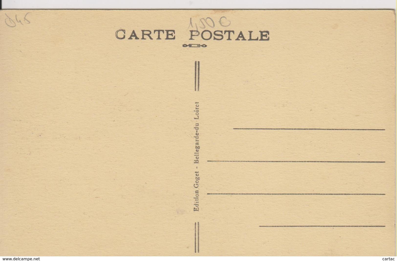 D45 - BELLEGARDE DU LOIRET - ENTREE PRINCIAPLE DE LA COUR DU CHATEAU - France