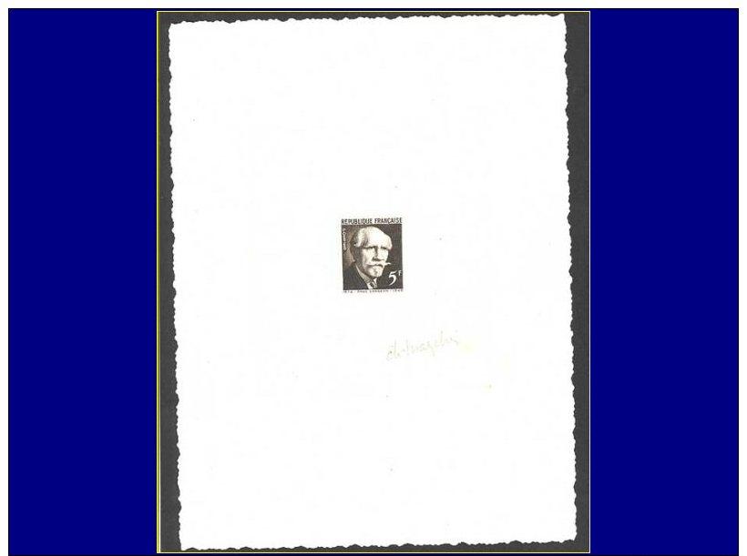 Qualité: EPA – 820, épreuve D'artiste En Noir, Signée: 5f. Langevin. - Stamps