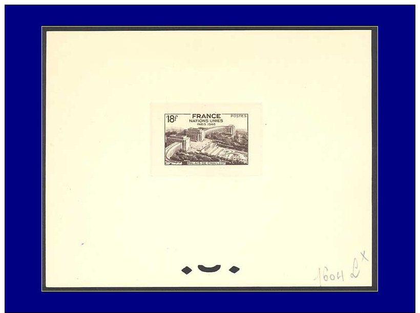 Qualité: EPT – 819, épreuve D'atelier En Sépia (N° 1604): 18f. Onu - Chaillot. - Stamps