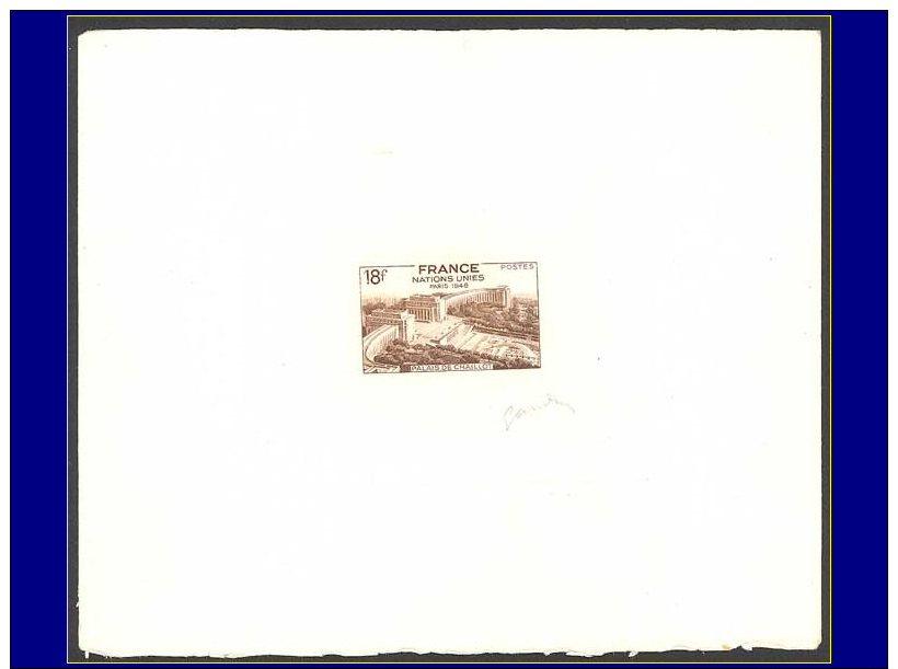 Qualité: EPA – 819, épreuve D'artiste En Sépia, Signée: 18f. Onu, Chaillot. - Stamps