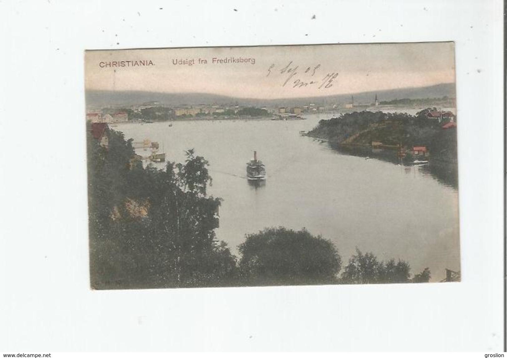 CHRISTIANA 57 UDSIGT FRA FREDRIKSBORG 1905 - Norvège
