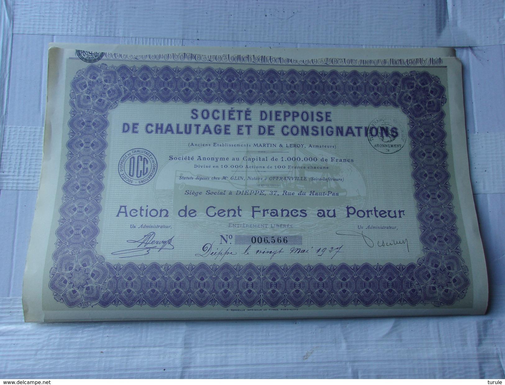 DIEPPOISE DE CHALUTAGE ET DE CONSIGNATIONS (1927) DIEPPE - Shareholdings