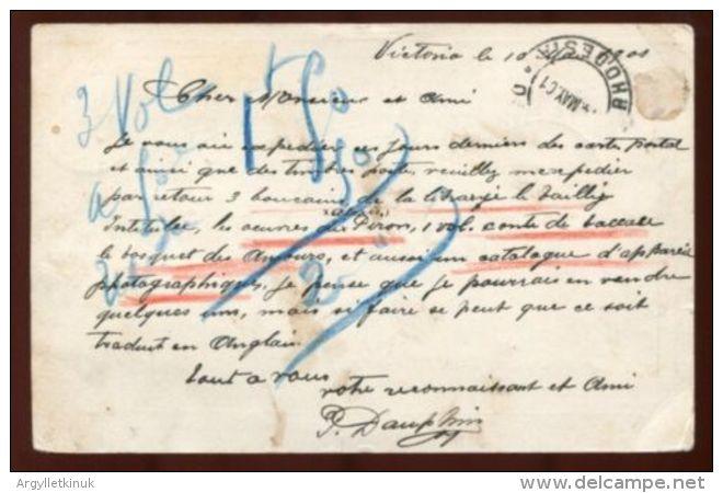 RHODESIA POSTAL STATIONERY VICTORIA POSTMARK 1901 - Great Britain (former Colonies & Protectorates)