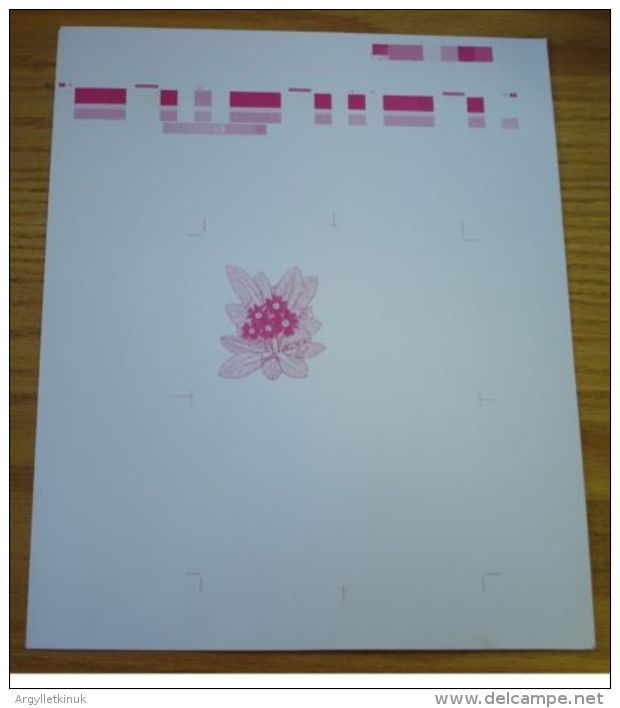 GB SCOTLAND QUEEN ELIZABETH STATIONERY PROOF LETTERCARD FLOWERS PRIMROSE 1981 - Unclassified