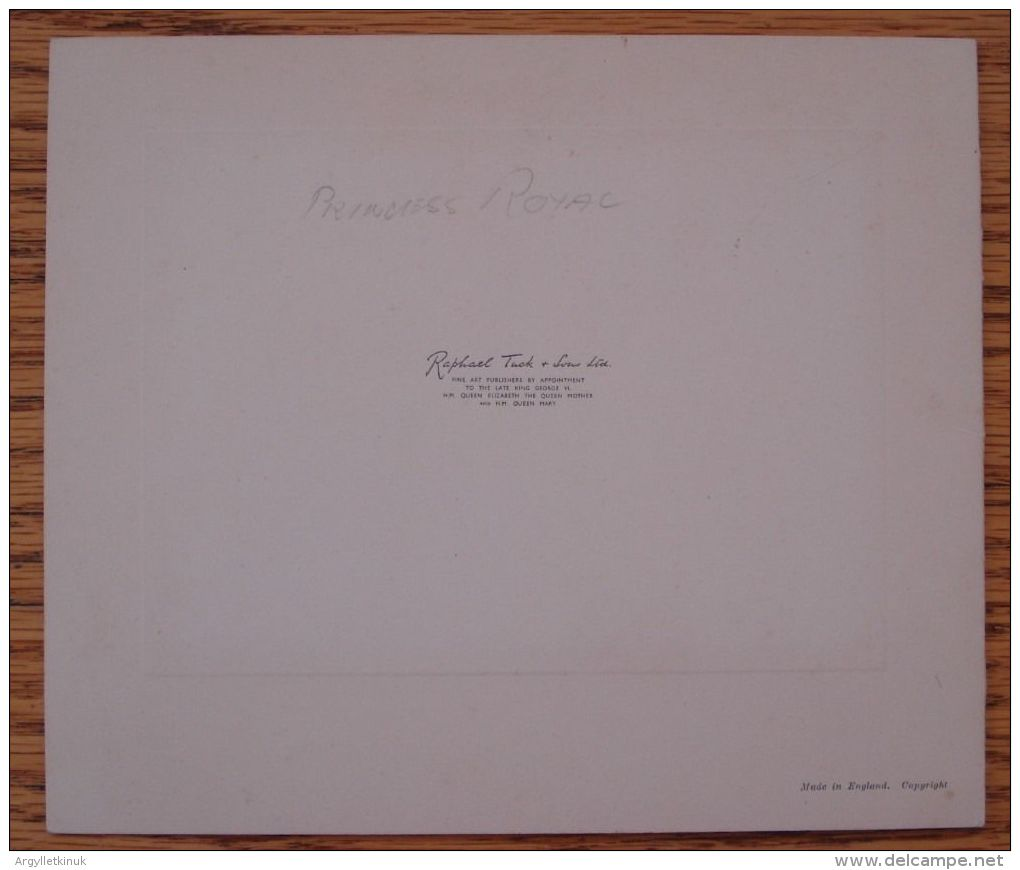 RARE CHRISTMAS CARD PRINCESS MARY ROYAL MARQUESS CARISBROOKE BATTENBERG 1952 - Old Paper