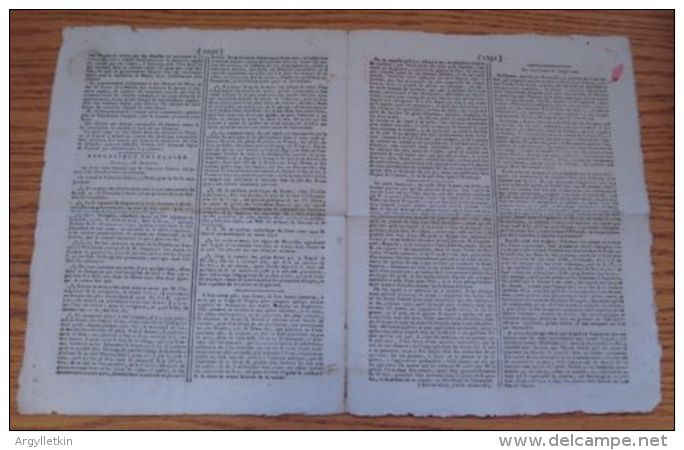 FRANCE NAPOLEONIC PERIOD NEWSPAPER WAR PROPAGANDA ARMY BALLOONS 1803 - Unclassified