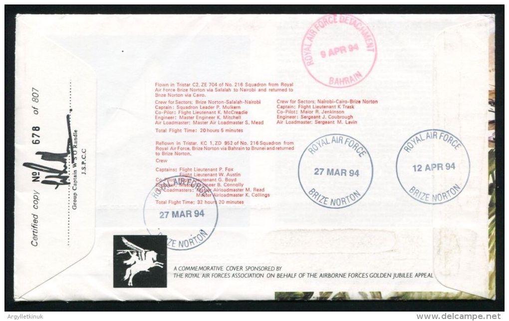 ADEN BRITISH FORCES P.O. QE2 1967 PARACHUTE REGIMENT - Aden (1854-1963)