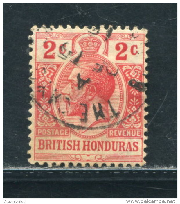 BRITISH HONDURAS KING GEORGE FIFTH VILLAGE POSTMARK THE CAYO 1915 - British Honduras (...-1970)