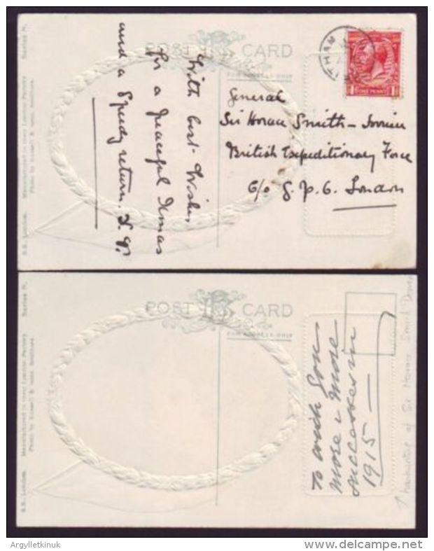 POSTCARDS WWI GENERAL SIR HORACE SMITH-DORIAN GOVERNOR OF GIBRALTAR INDIA - Gibraltar