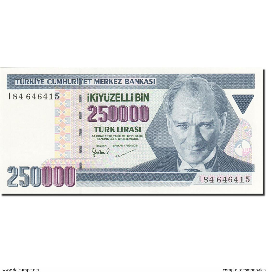Turquie, 250,000 Lira, 1984-1997, 1992, KM:207, NEUF - Turkey