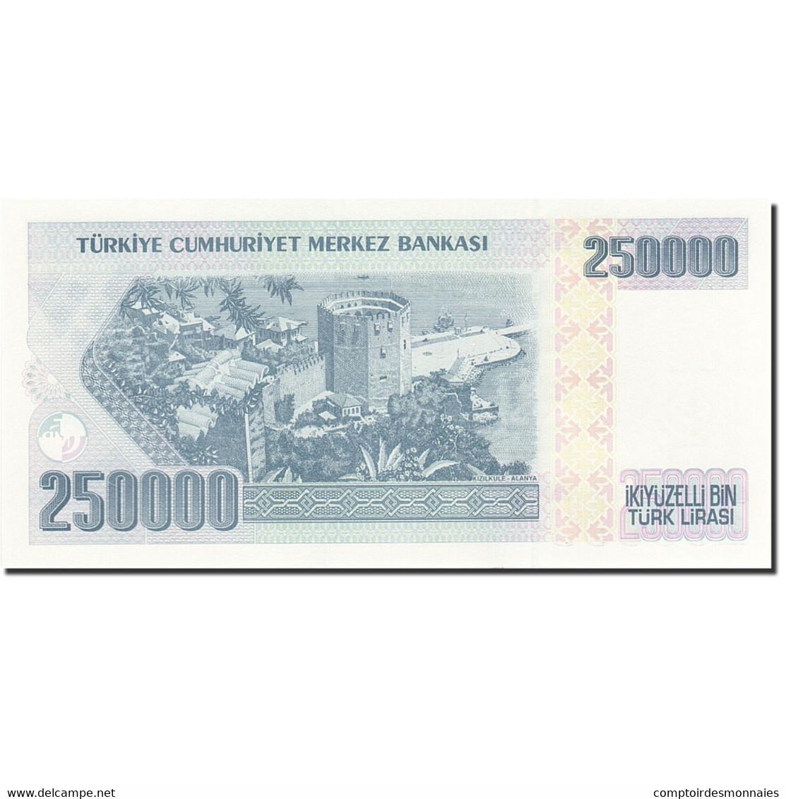 Turquie, 250,000 Lira, 1984-1997, 1992, KM:207, NEUF - Turchia