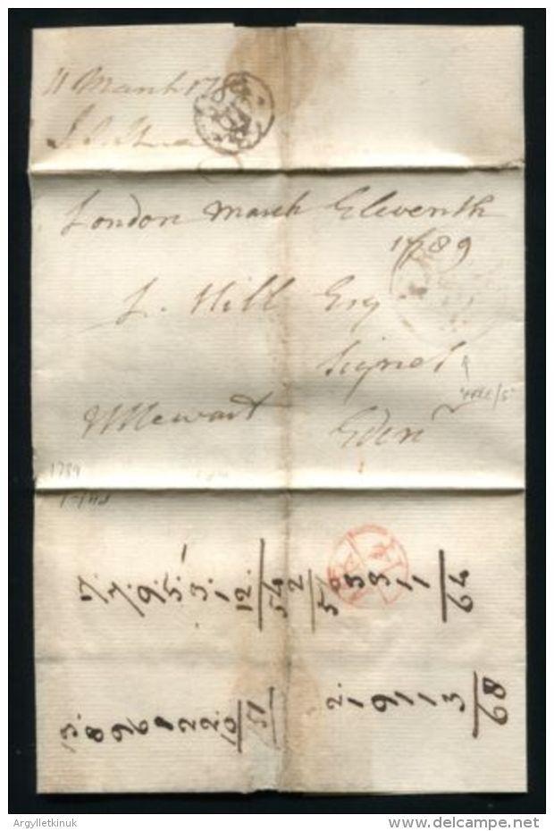 LONDON EDINBURGH OFFICIAL FREE 1789 DUKE OF PORTLAND - Postmark Collection
