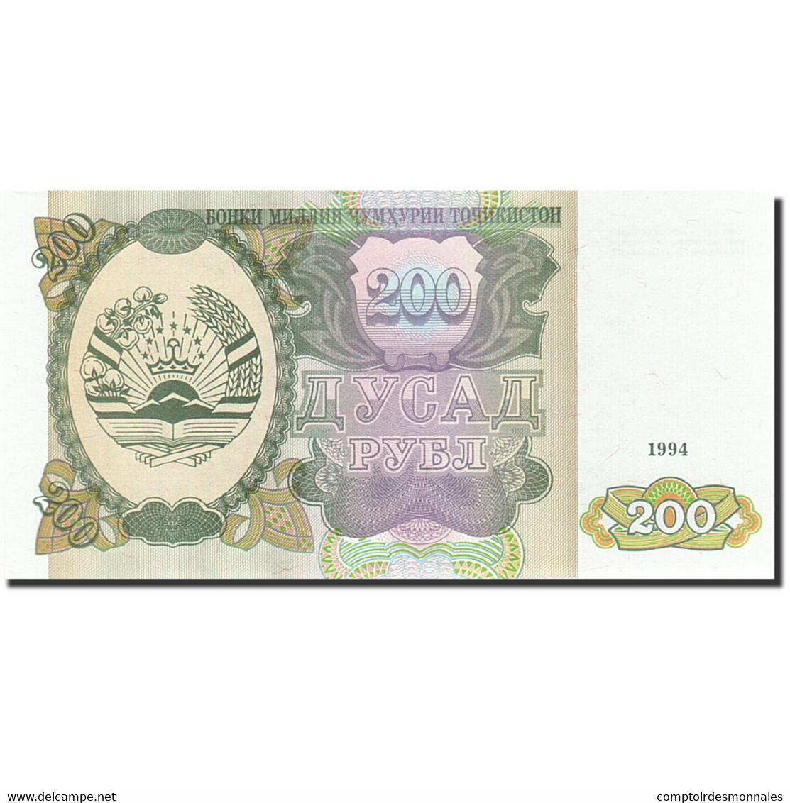 Tajikistan, 200 Rubles, 1994, 1994, KM:7a, NEUF - Tadjikistan