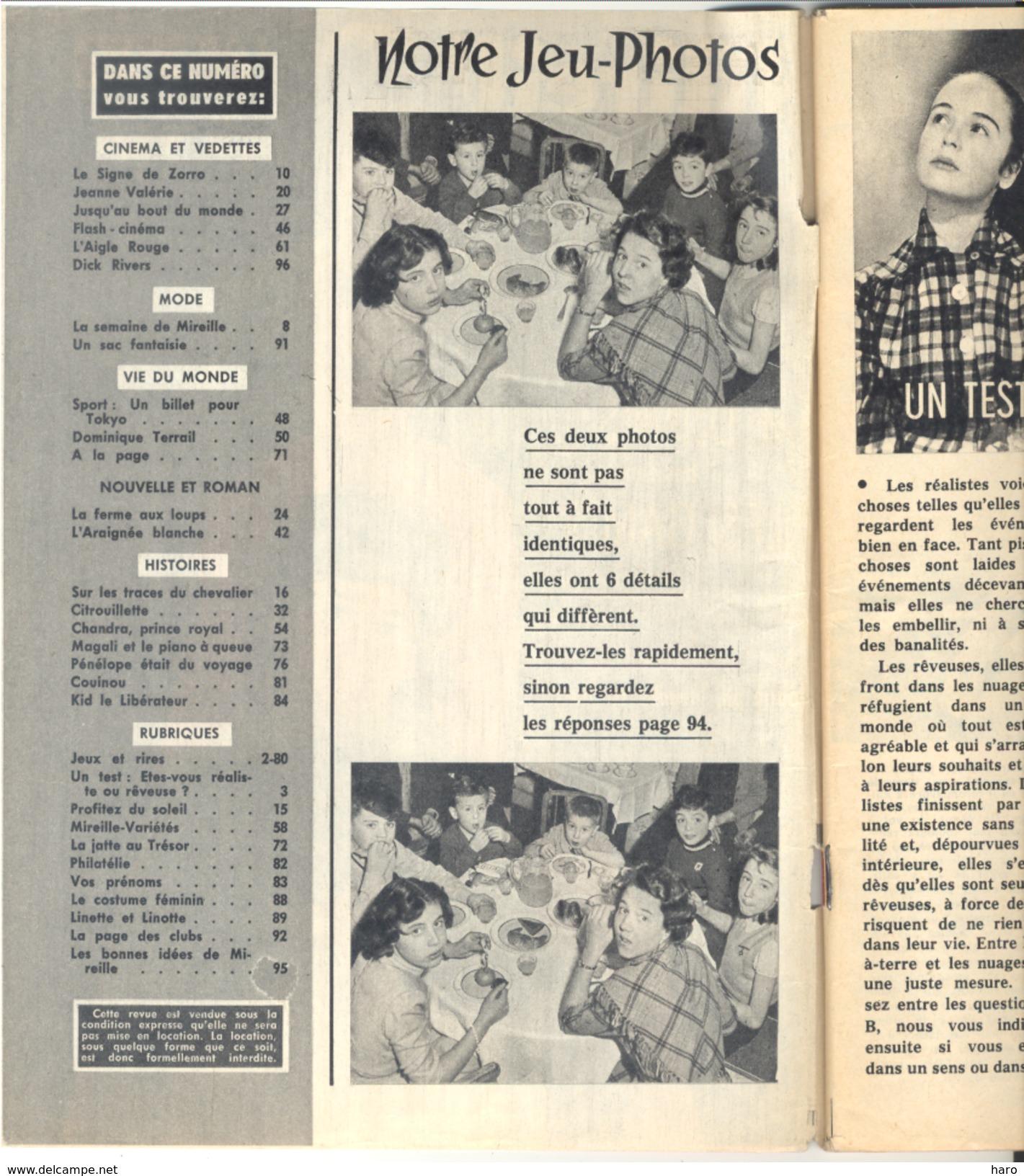 """Revue """" MIREILLE  L'Intrépide"""" N°394 / 1963 - Chanteurs, Mode, BD, Vedettes,...(voir Sommaire) Dirk Rivers,... - Music"""