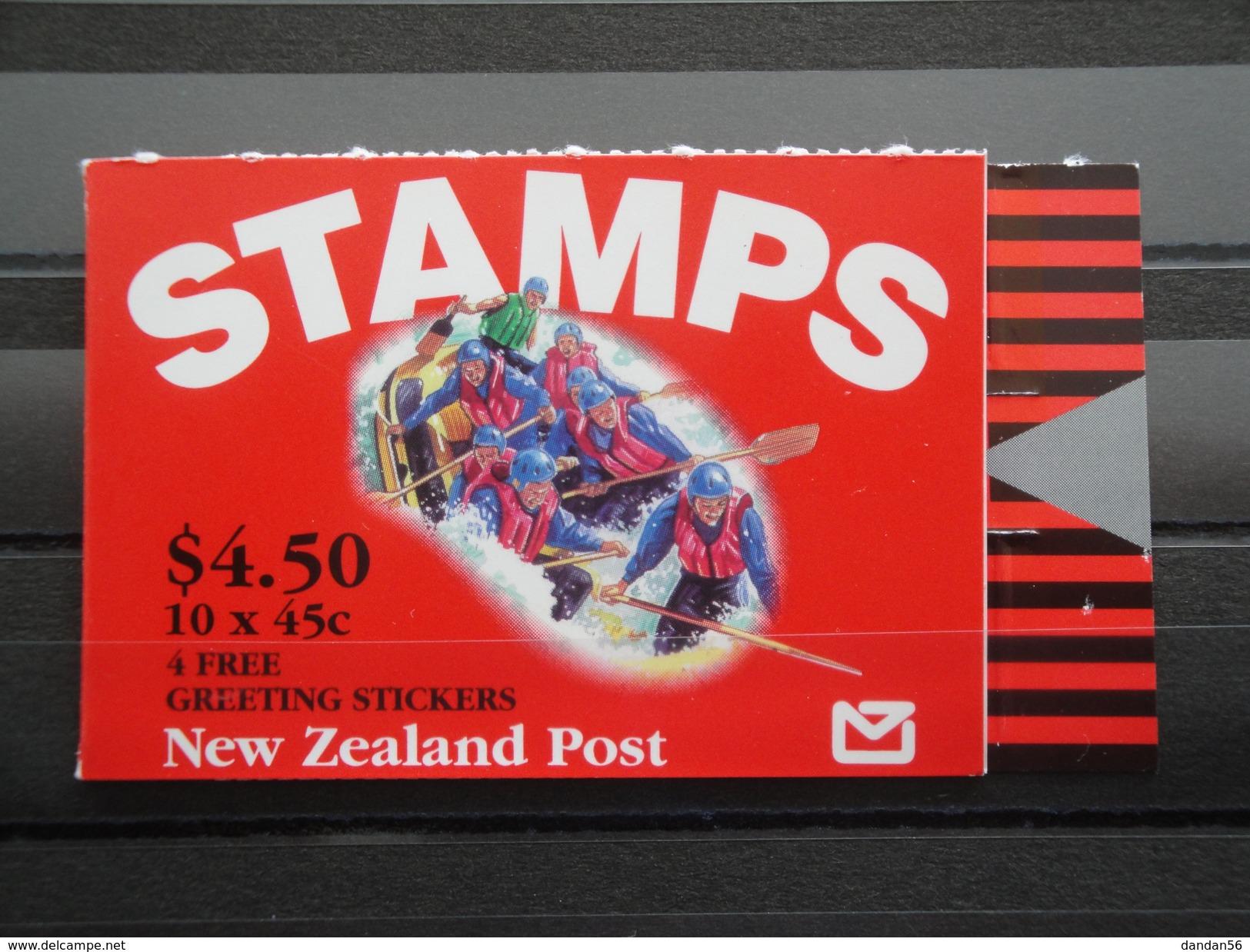 1994 Nouvelle Zélande - Yvert  C 1269  ** Tourisme Sportif  Scott 1197 A  Michel C 1304   SG SB 68 B Greeting - Carnets