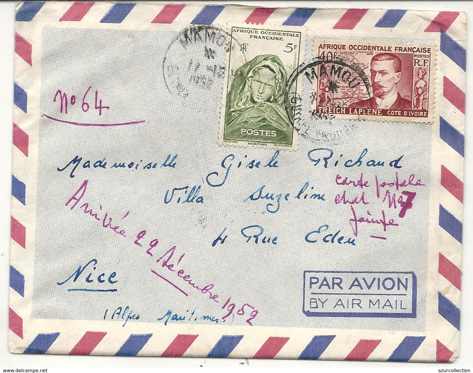 GUINEE . LETTRE DE MAMOU A KINDIA - A.O.F. (1934-1959)