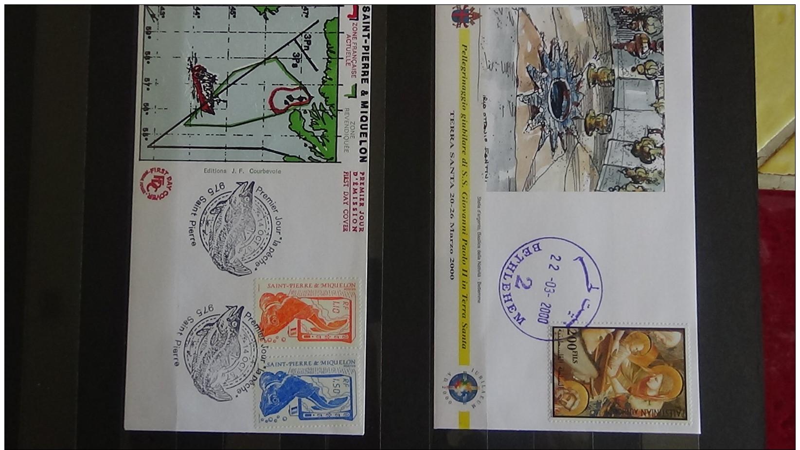 B Gros Carton Dont Bloc N° 2 Obl (auth), Monaco**, France ** Et Oblitérés, Albums Monde Oblitérés, Envel 1er Jour ... - Timbres