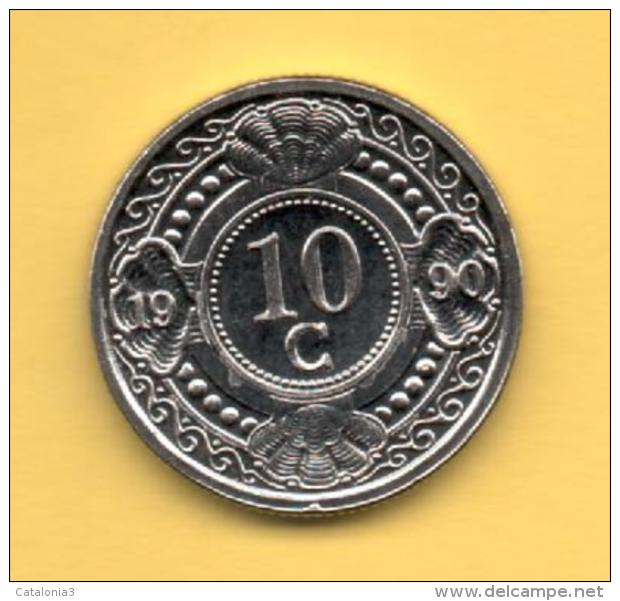 ANTILLAS HOLANDESAS - 10 Cents 1990 SC  KM34 - Antille Olandesi