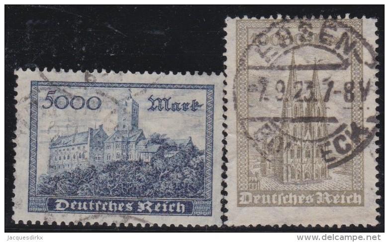 Deutsches Reich   .   Michel   .     261/262         .          O    .         Gebraucht - Deutschland