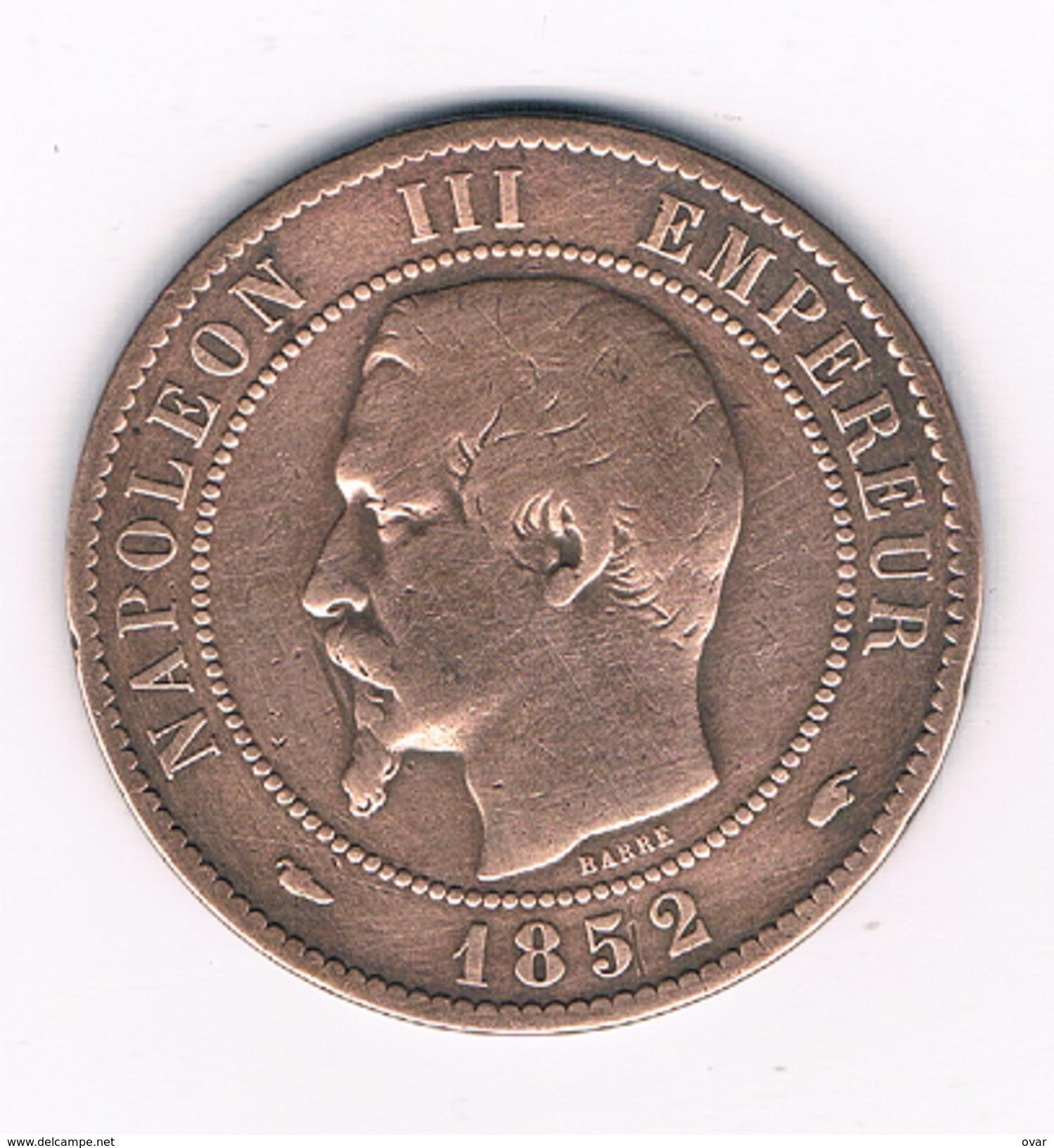 10 CENTIMES 1852 A FRANKRIJK /1466C/ - France
