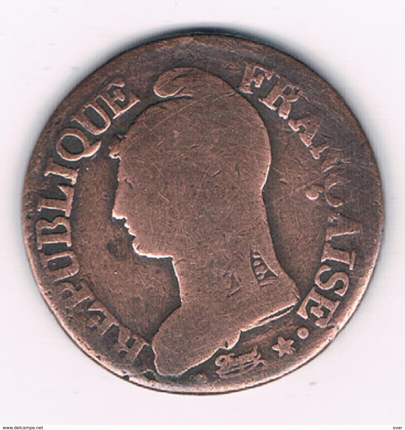 5 CENTIMES L'AN7 (1798) W LILLE  FRANKRIJK /1467C/ - C. 5 Centimes