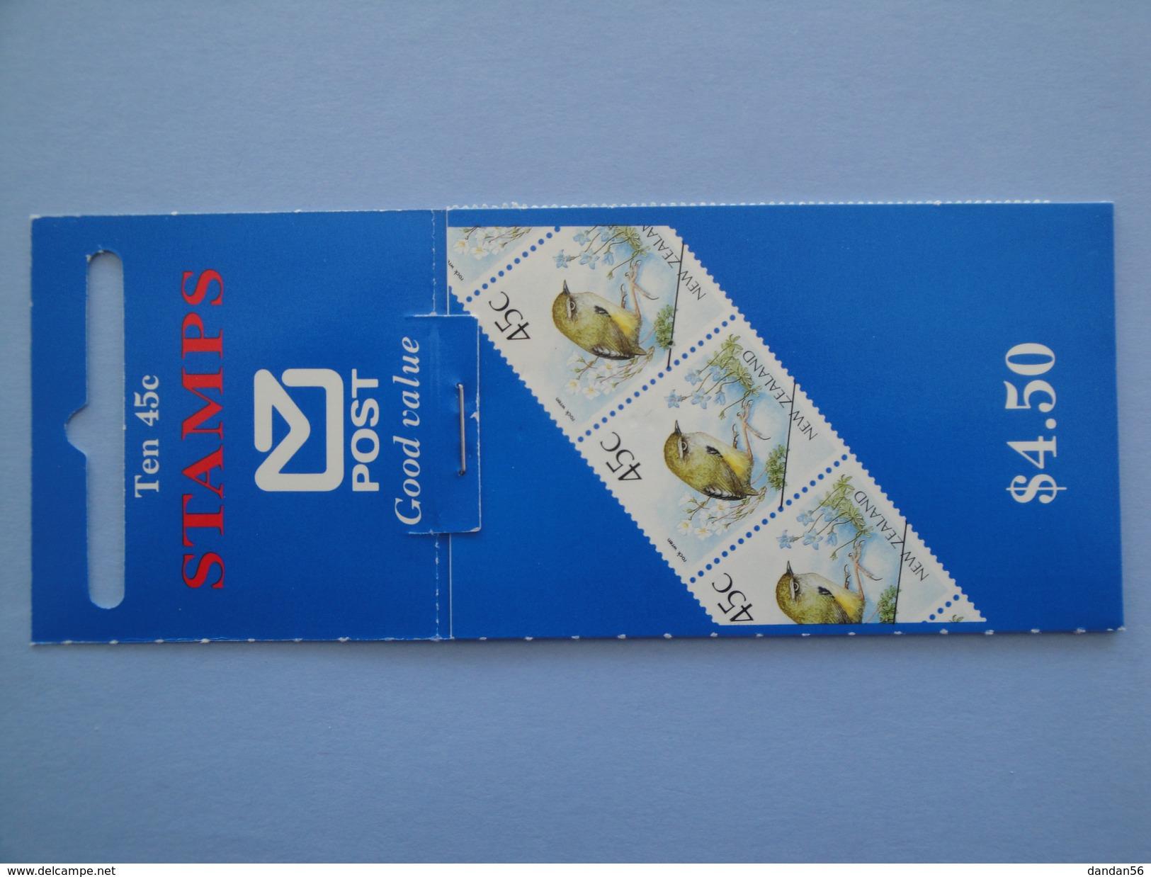 1991 Nouvelle Zélande - Yvert  C 1127  **  Oiseaux Birds Scott Xx   Michel C 1183 X 10   SG SB 59 ???? - Carnets