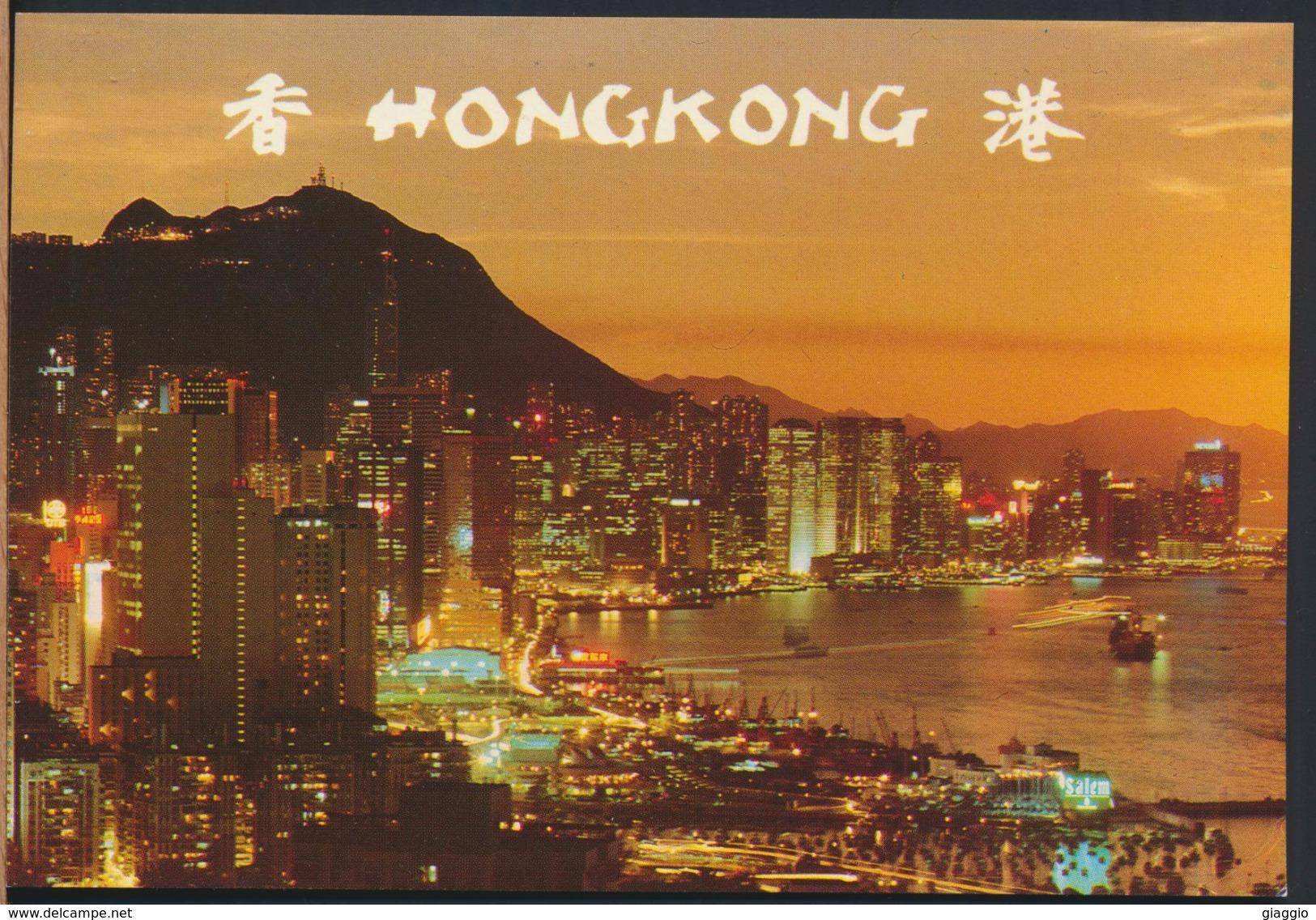 °°° 4866 - HONG KONG - BEAUTIFUL DUSK SCENE OF VICTORIA °°° - Cina (Hong Kong)