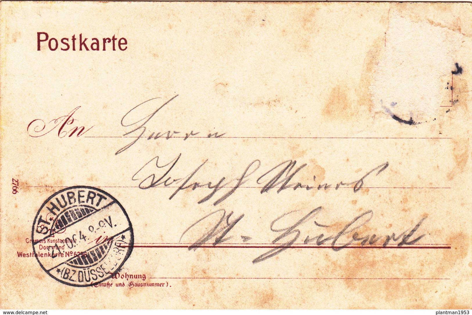 Old Postcard Of Gruss Aus Westfalen,Westphalia, Germany,Posted,R38. - Wesel