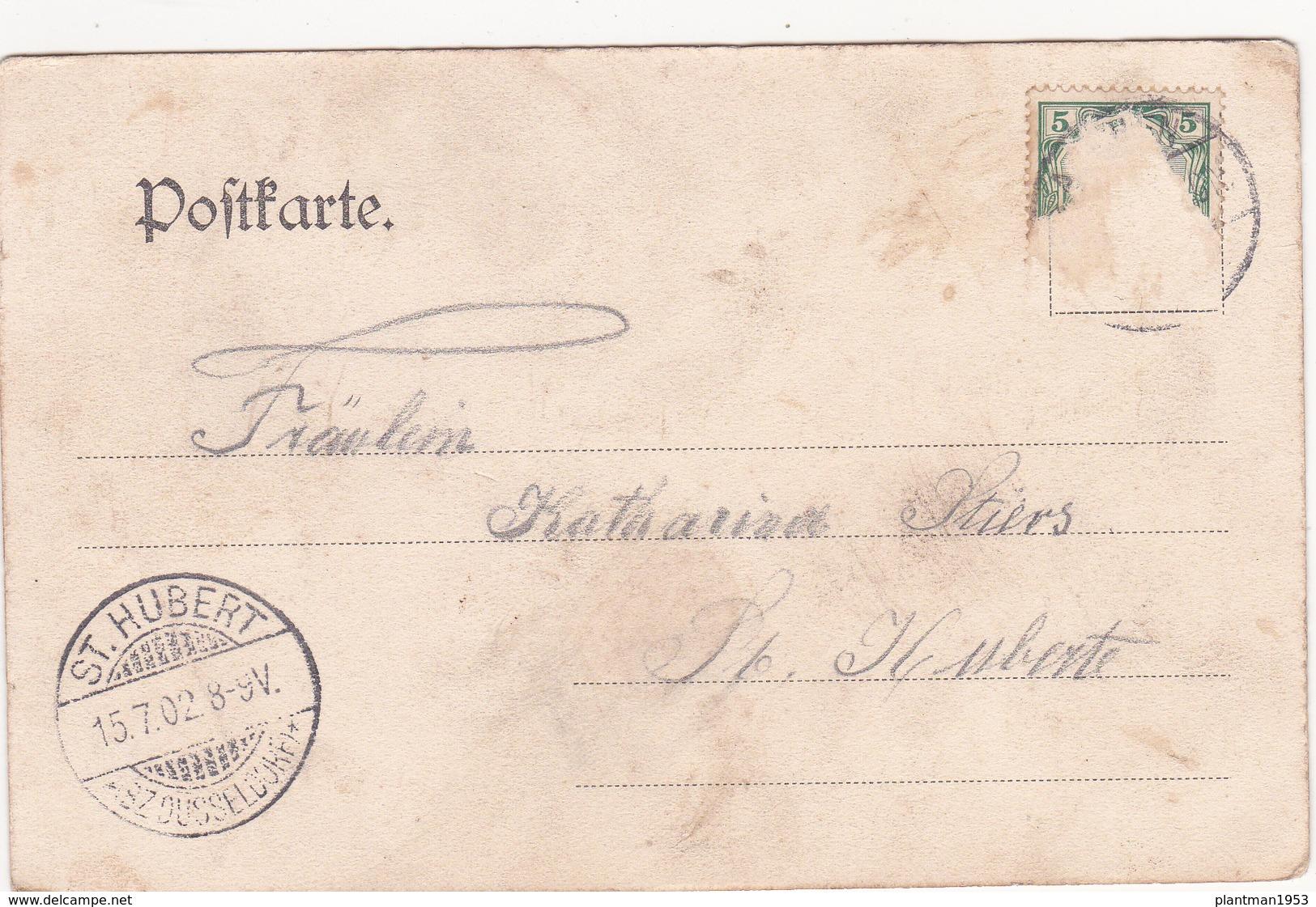 Old Postcard Of Gruss Aus Aachen, North Rhine-Westphalia, Germany,Posted,R38. - Aachen